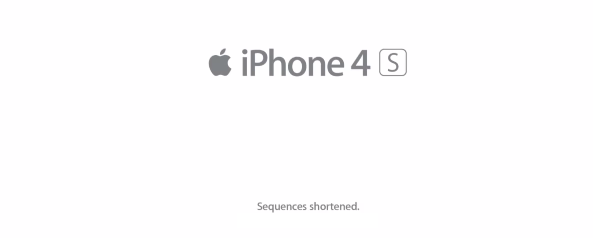 Sequences Shortened Apple iPhone ad