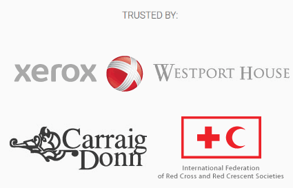 Trusted by - former and current WebsiteDoctor clients include Xerox, Westport House, Carraign Donn and the IFRC