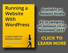 Running a Website with WordPress ebook available on Amazon Kindle